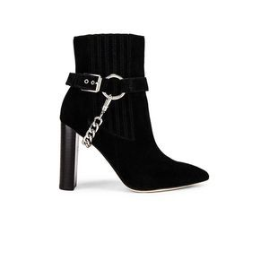 PAIGE London Suede Harness Chain Point Bootie Boot